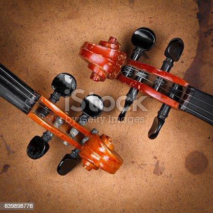 istock Old violins 639898776