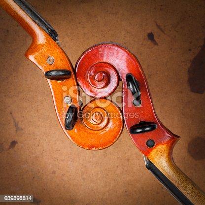 istock Old violins 639898814