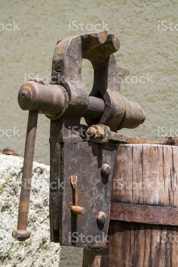 Old vise stock photo