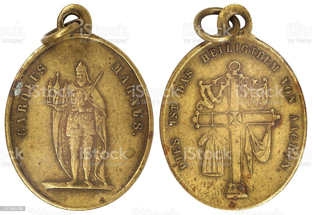 old vitage medallion stock photo
