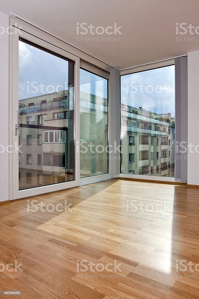 old vs new - French window stock photo