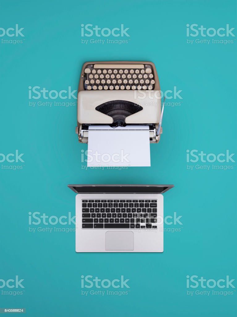 Old vs new stock photo