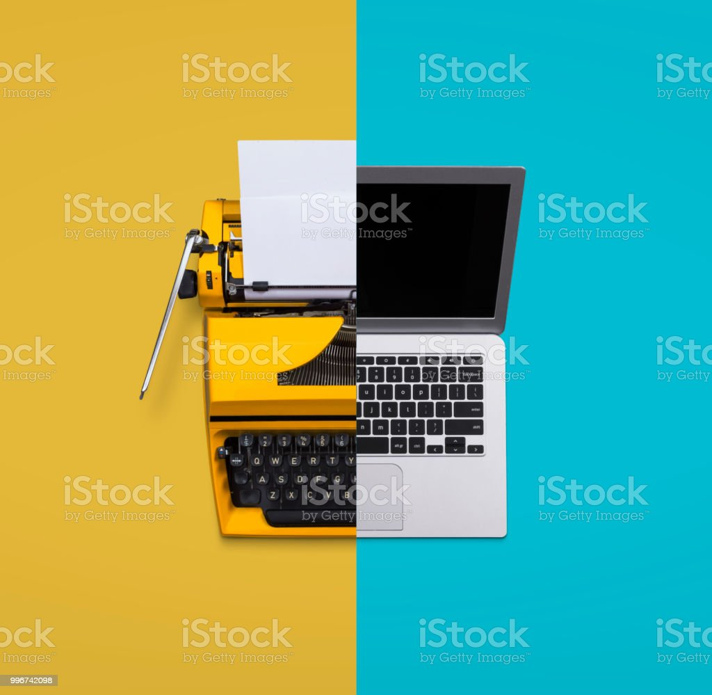 Old vs new technology stock photo