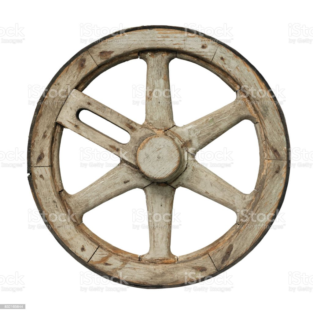 Old waggon wheel royalty-free stock photo