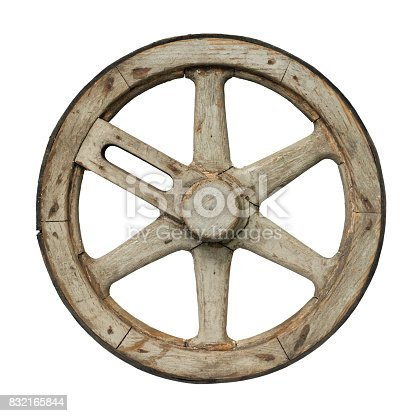 Old Waggon Wheel Stock Photo & More Pictures of Abandoned
