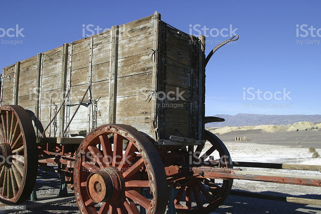 Old Wagon in Desert royalty-free stock photo