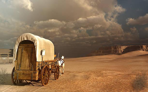 Vieux wagon dans le désert - Photo