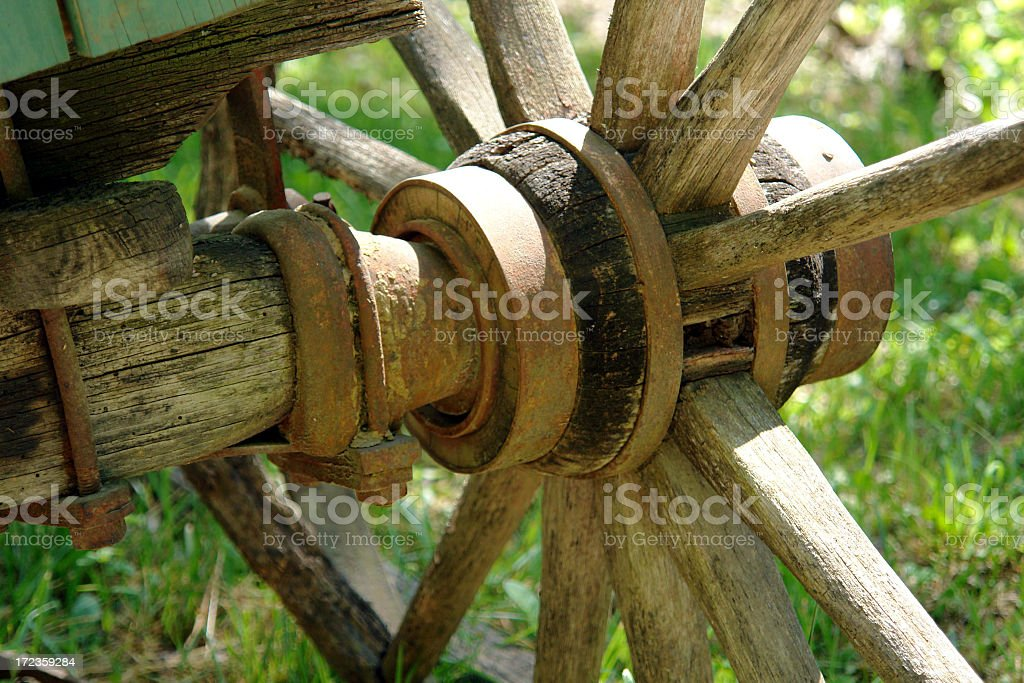 Old Wagon Wheel royalty-free stock photo