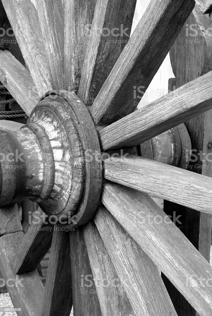 Old Wagon Wheel Lizenzfreies stock-foto