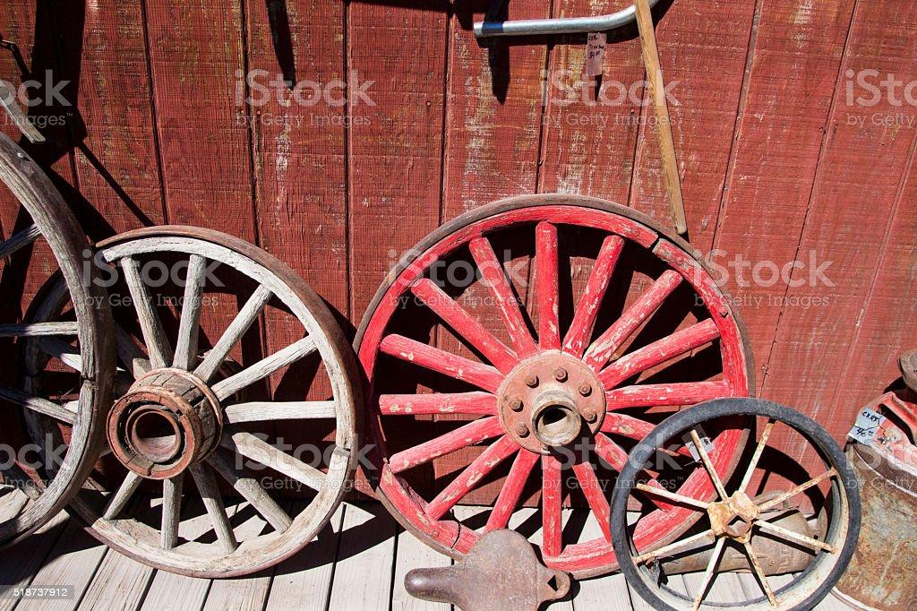 Old Wagon Wheels Stock Photo | IStock