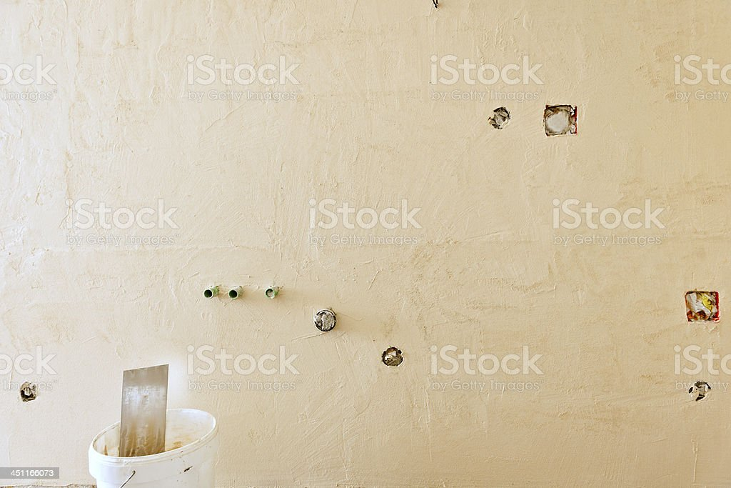 Old Wall Before Addition House Interior royalty-free stock photo