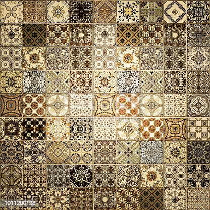 926058102 istock photo Old wall ceramic tiles patterns handcraft from thailand parks public 1011200128