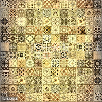 926058102 istock photo Old wall ceramic tiles patterns handcraft from thailand parks public 1018306546