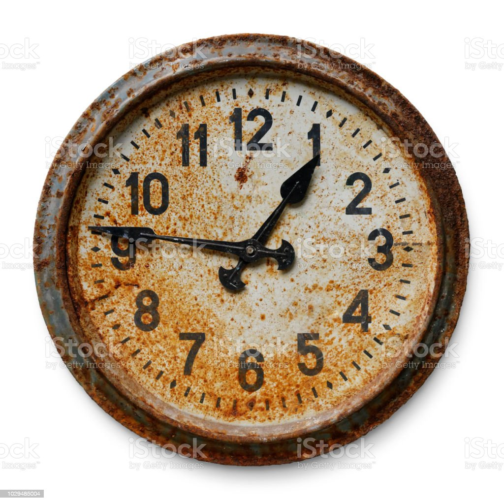 Old wall clock stock photo