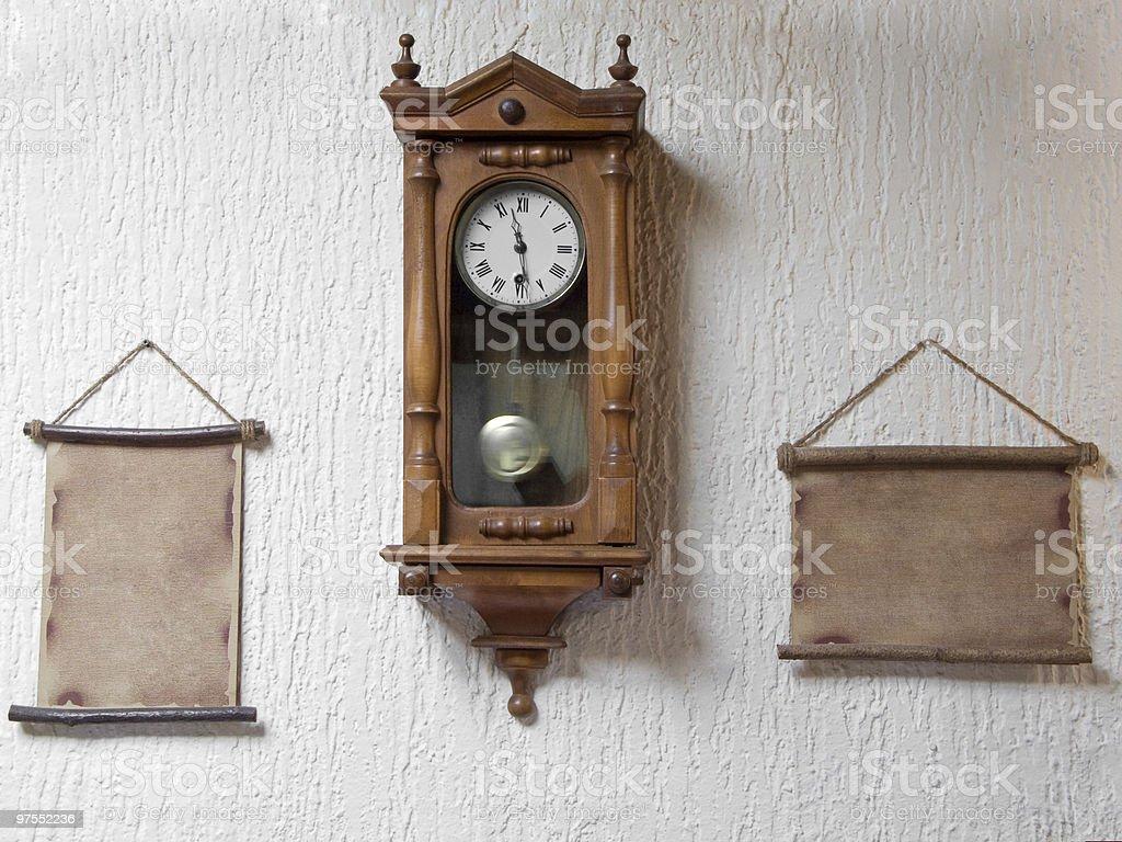 Old wall clock royalty-free stock photo