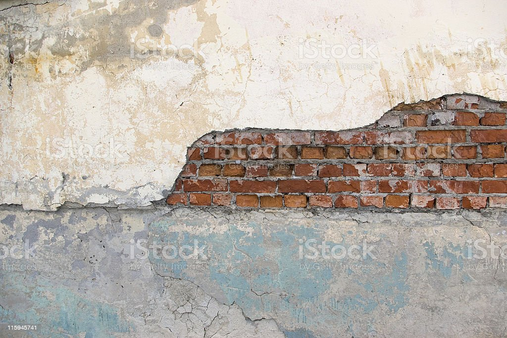 Old wall fragment royalty-free stock photo
