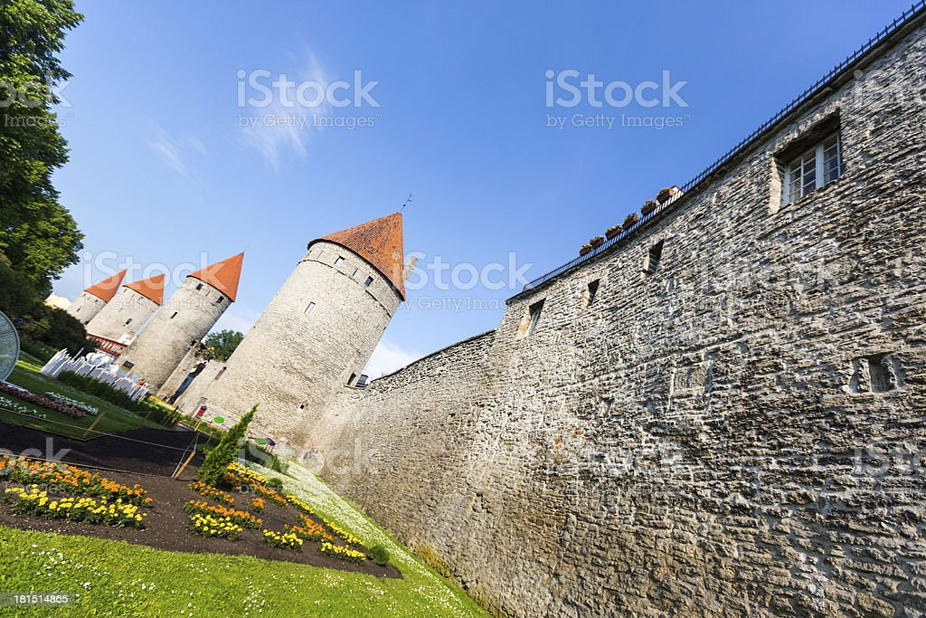 Old Wall in Tallinn royalty-free stock photo