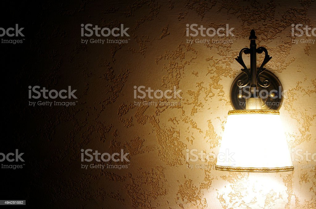 Old wall lamp stock photo