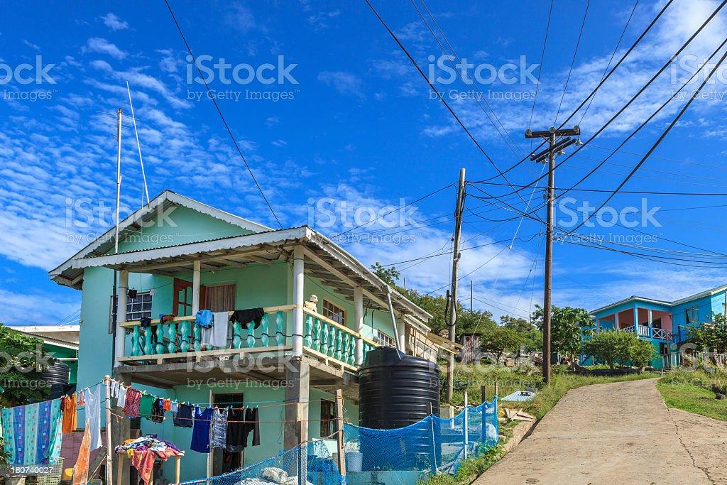 Old Wall, Mayreau Island stock photo