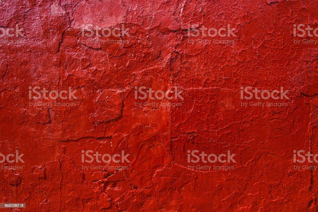 Photo Libre De Droit De Vieux Mur Peint à La Peinture Rouge