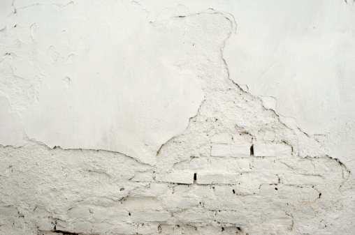 Old white wall for background.