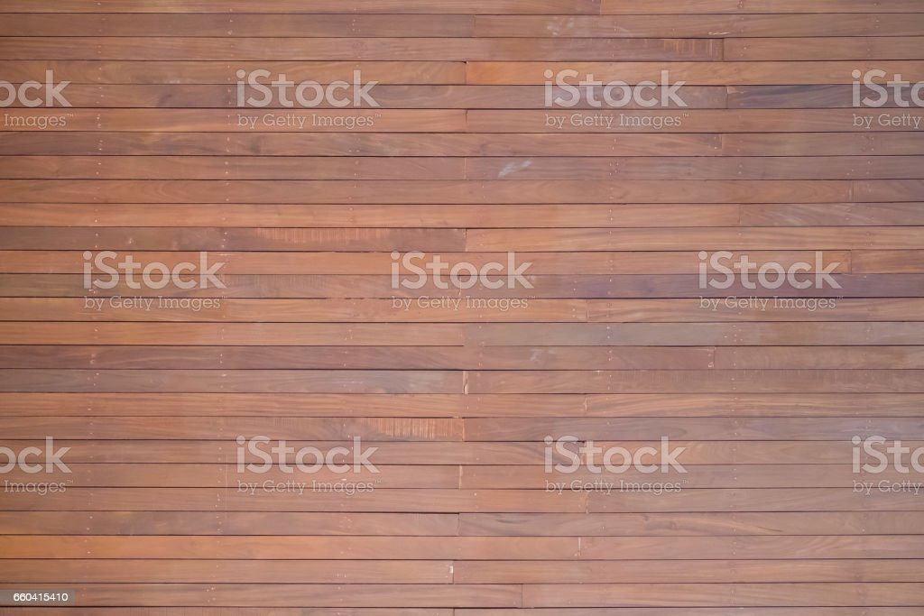 Old wall plank in red and brown tone, Plank several sheets used to make walls for background. stock photo