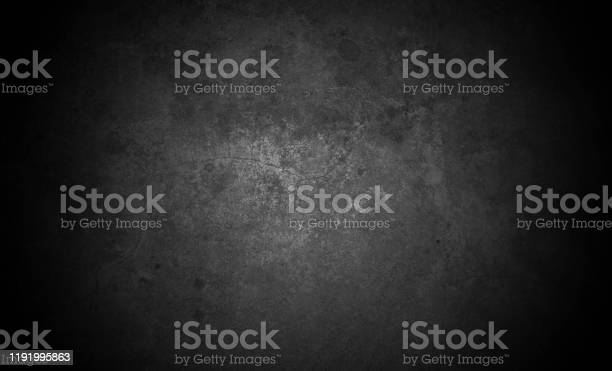 Photo of Old wall texture cement dark black gray  background abstract grey color design are light with white gradient background.
