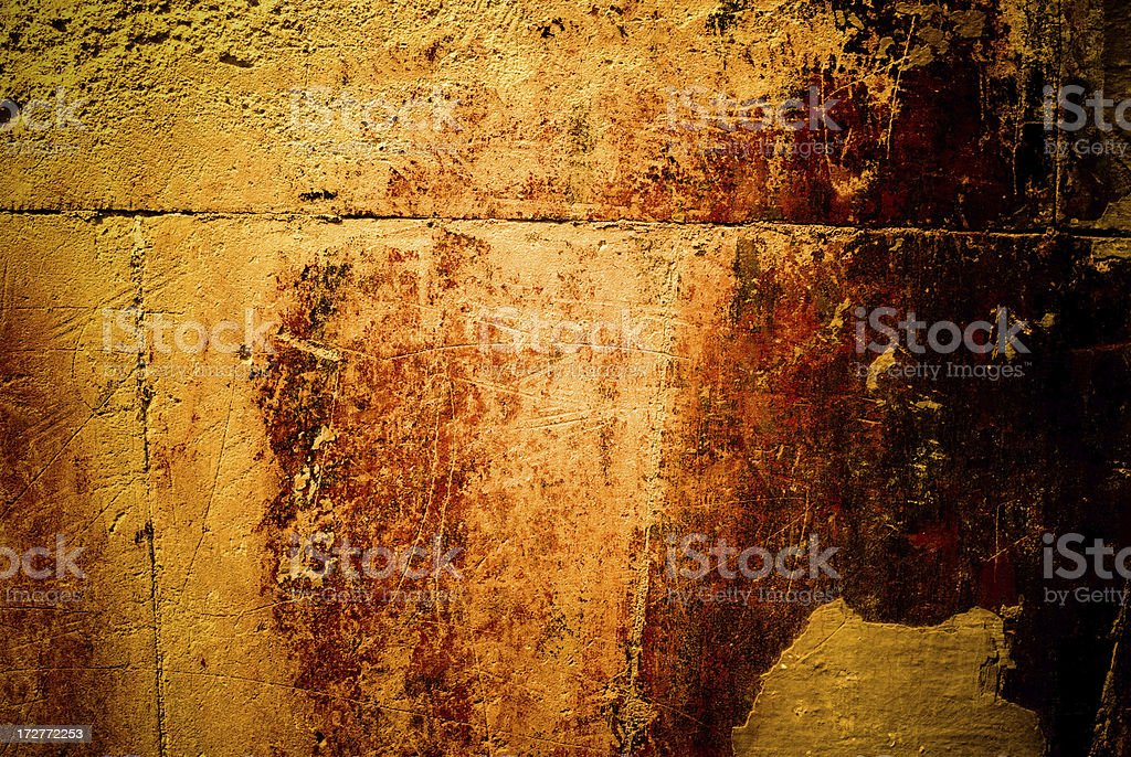old wall with the damaged plaster royalty-free stock photo