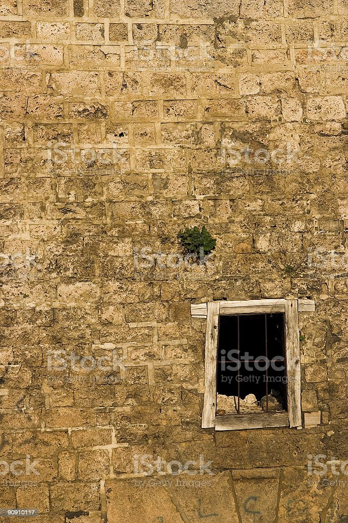 Old wall with window royalty-free stock photo