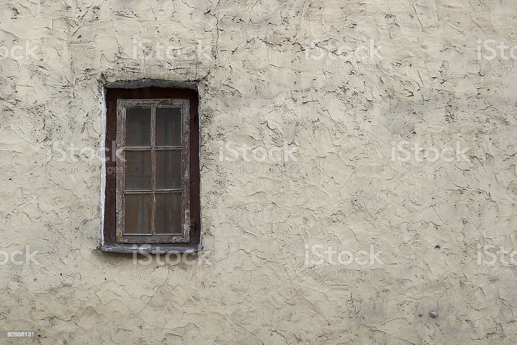 Old wall with window stock photo
