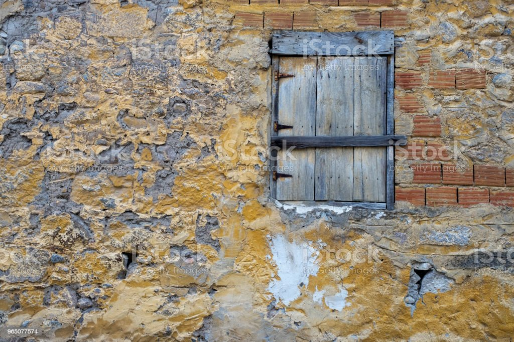 Old wall with window. royalty-free stock photo