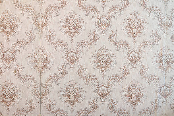 Old wallpaper stock photo
