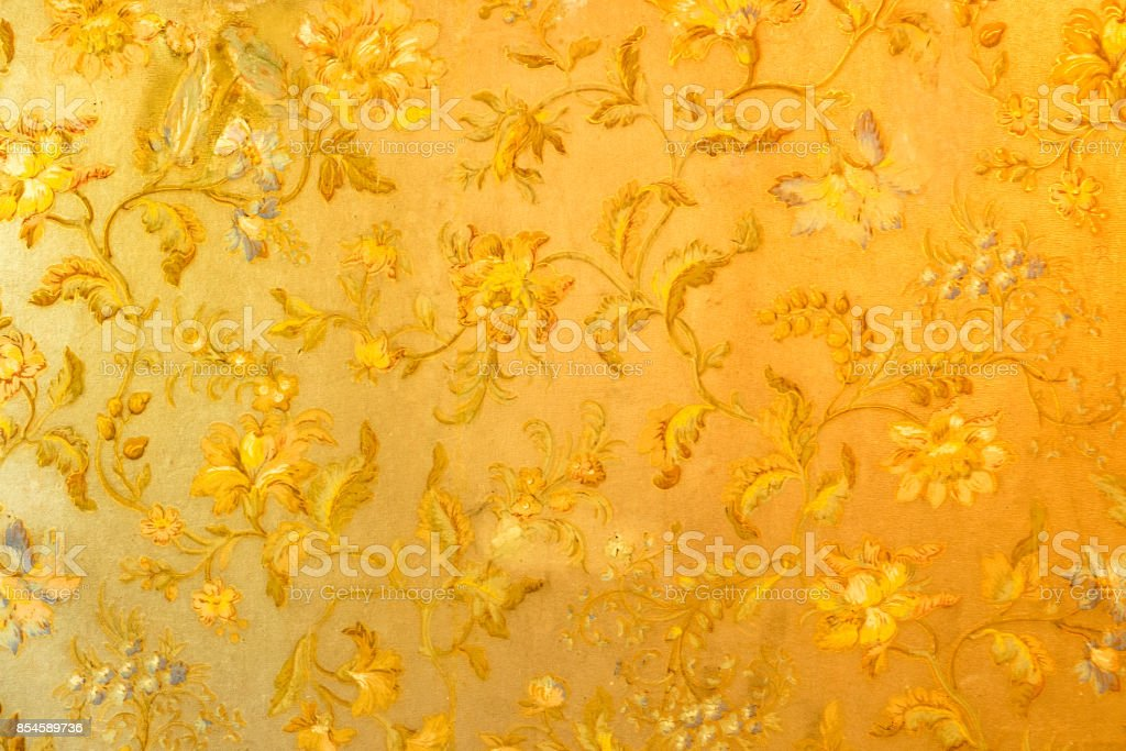 Old wallpaper. stock photo
