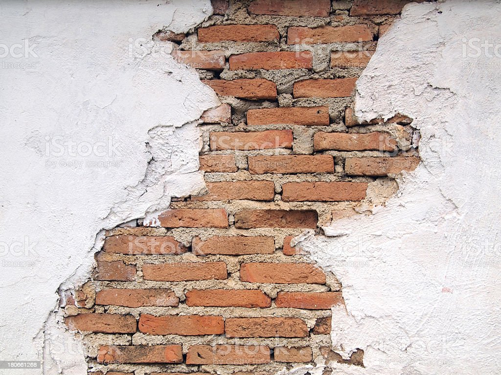old walls are cracked royalty-free stock photo