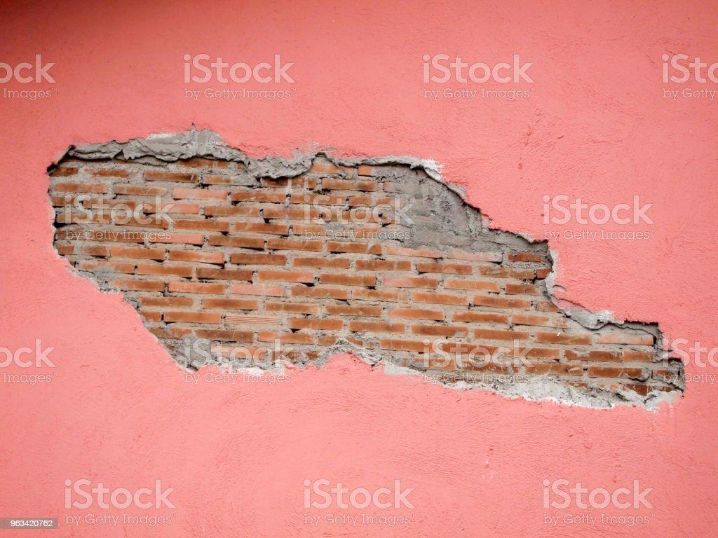 Vieux murs sont Craquelé - Photo de A l'abandon libre de droits