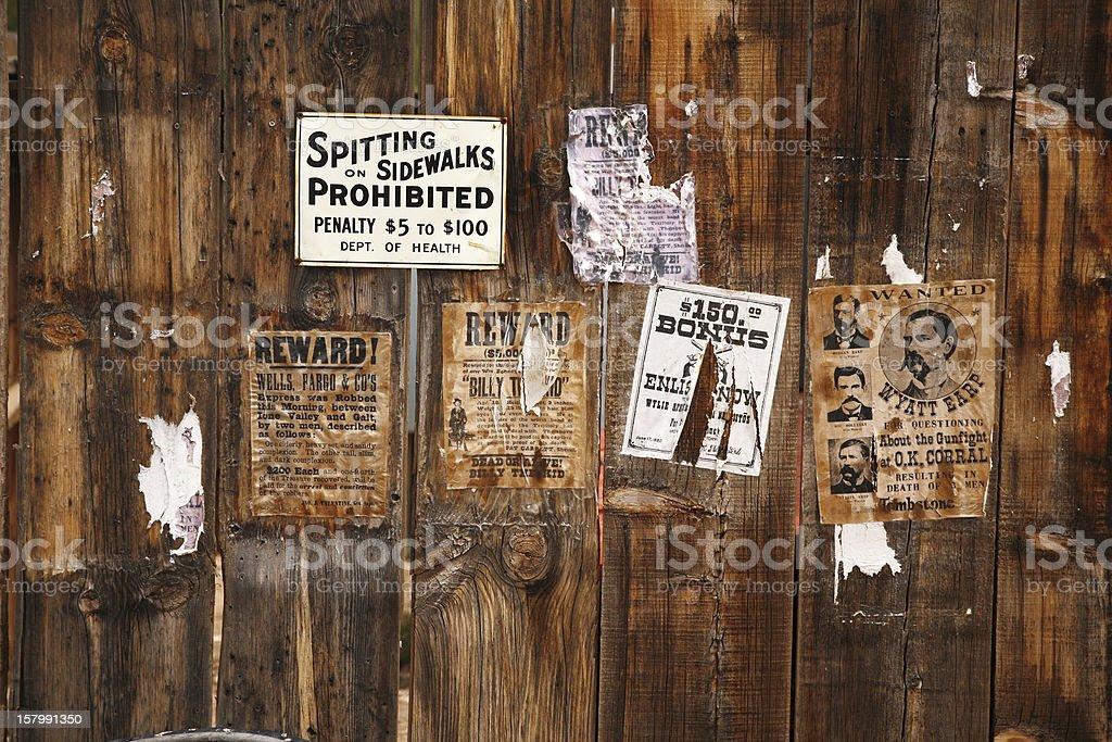 old wanted poster 18xx years, Arizona, USA stock photo