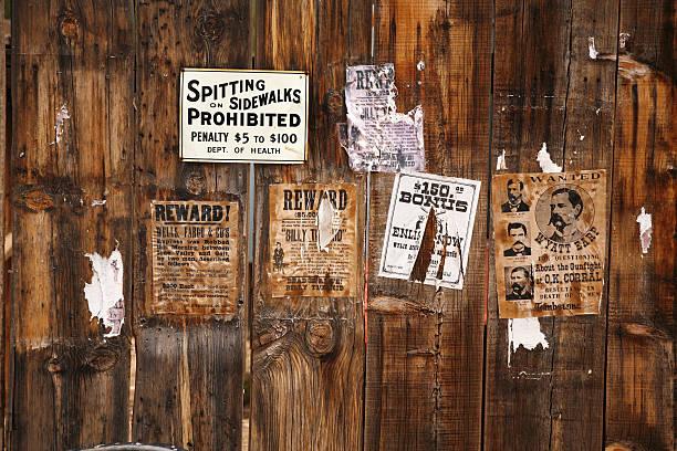 old voulait poster 18xx ans, Arizona, États-Unis - Photo