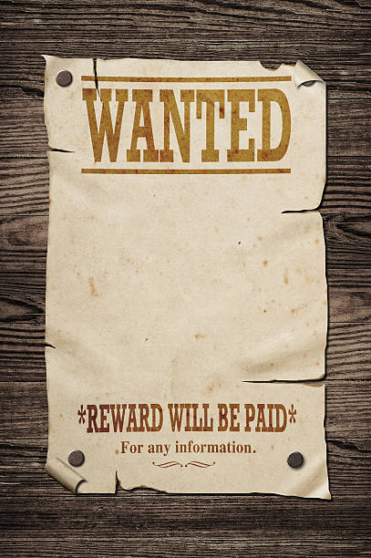 Old wanted sign.