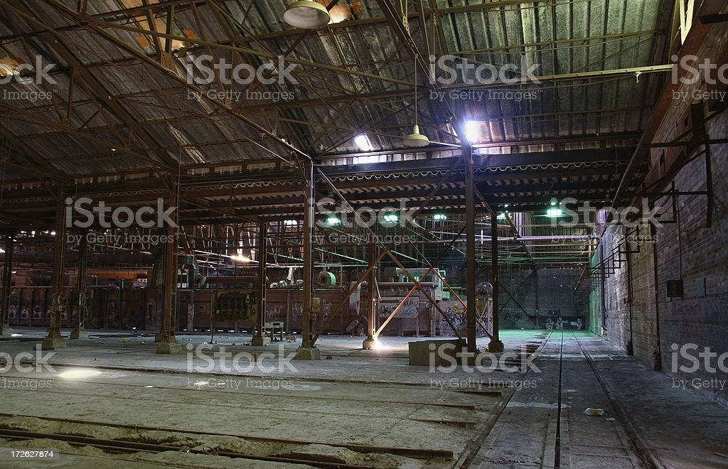 Old warehouse and factory stock photo