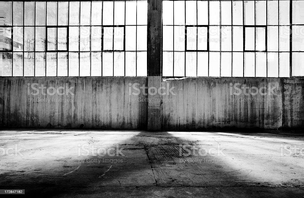 Old Warehouse at Night stock photo