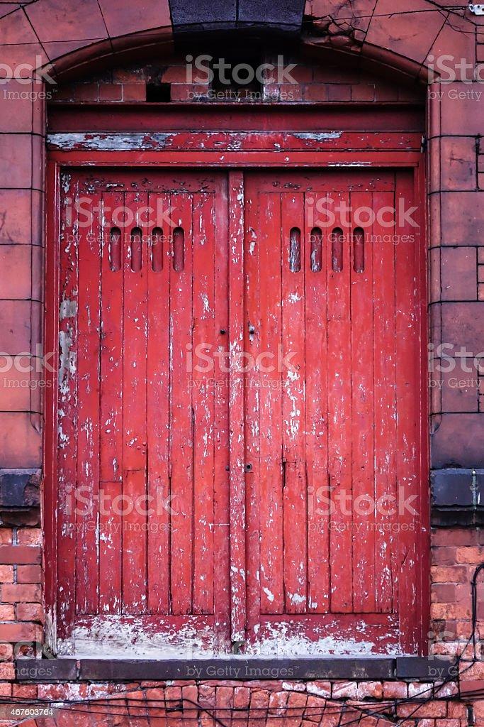 Old Warehouse Door stock photo