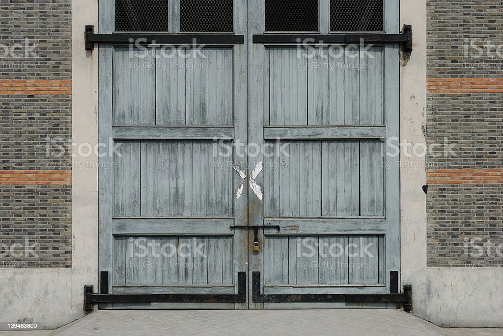 Old Warehouse Doors Royalty Free Stock Photo