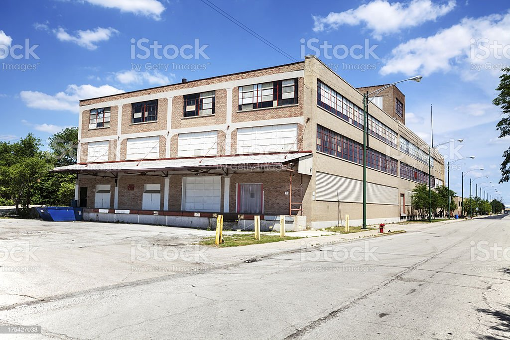 Old Warehouse in Crawford Industrial Park, Chicago royalty-free stock photo