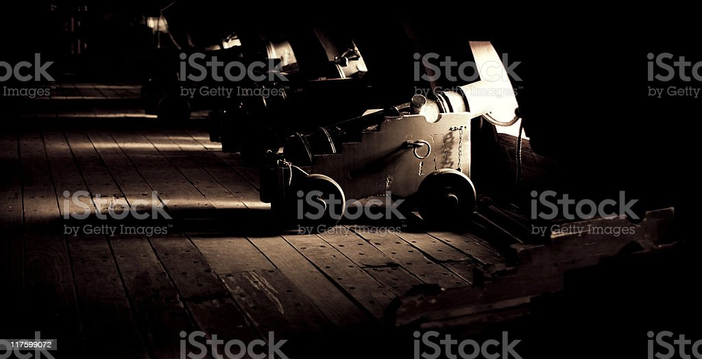 Old Warship. COlor Image stock photo