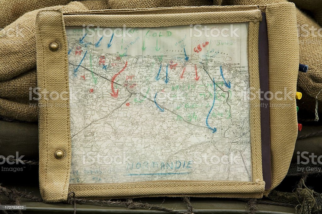 Old Wartime map royalty-free stock photo