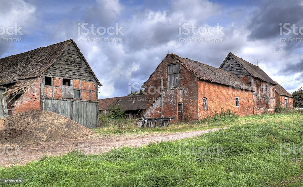 Old Warwickshire farm stock photo