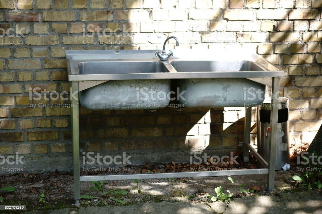 Old washbasin stock photo
