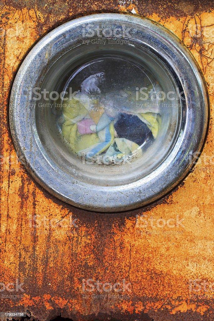 Old washing machine royalty-free stock photo