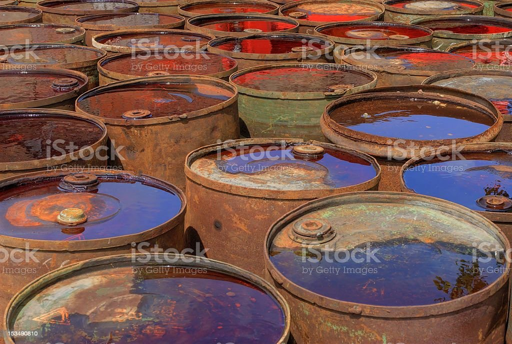 Old waste drums royalty-free stock photo