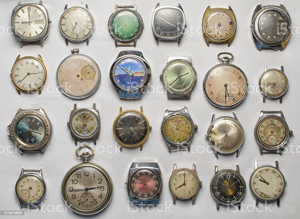 old watch Background stock photo
